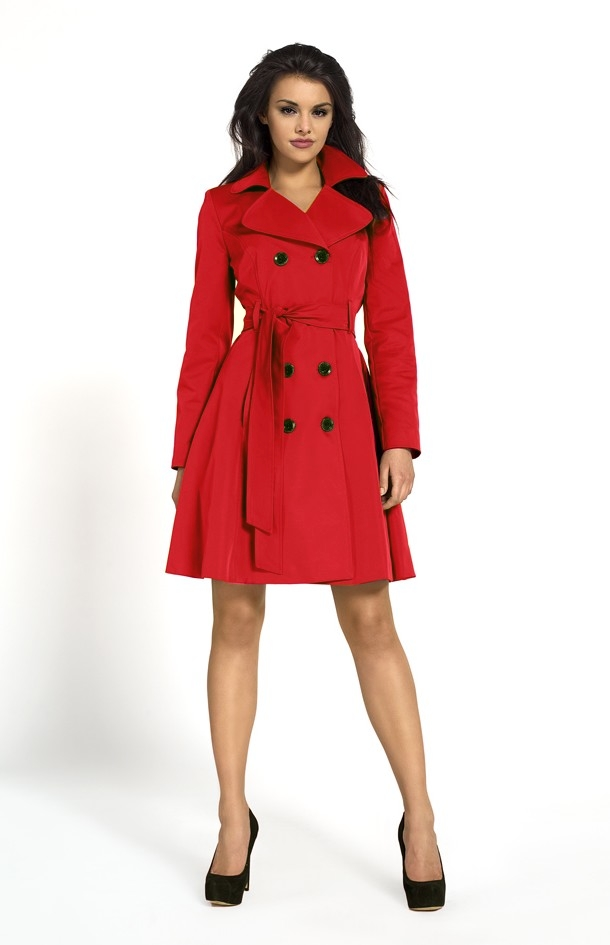 trench femme cherbourg rouge