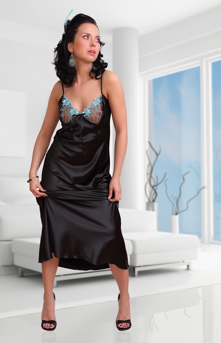 the gallery for black satin nightgown. Black Bedroom Furniture Sets. Home Design Ideas