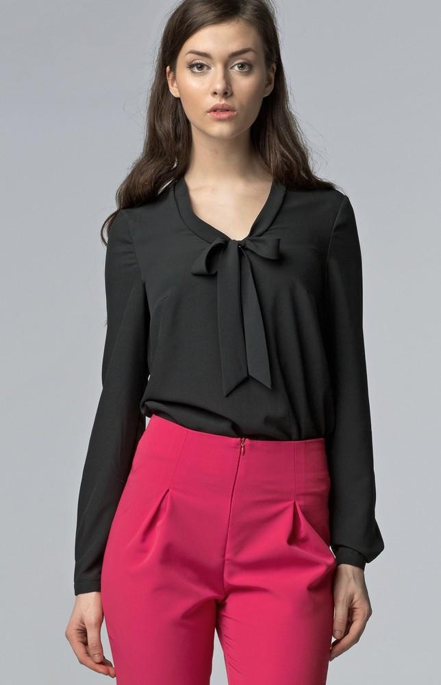 blouse col lavalli re noire nib56n idresstocode. Black Bedroom Furniture Sets. Home Design Ideas