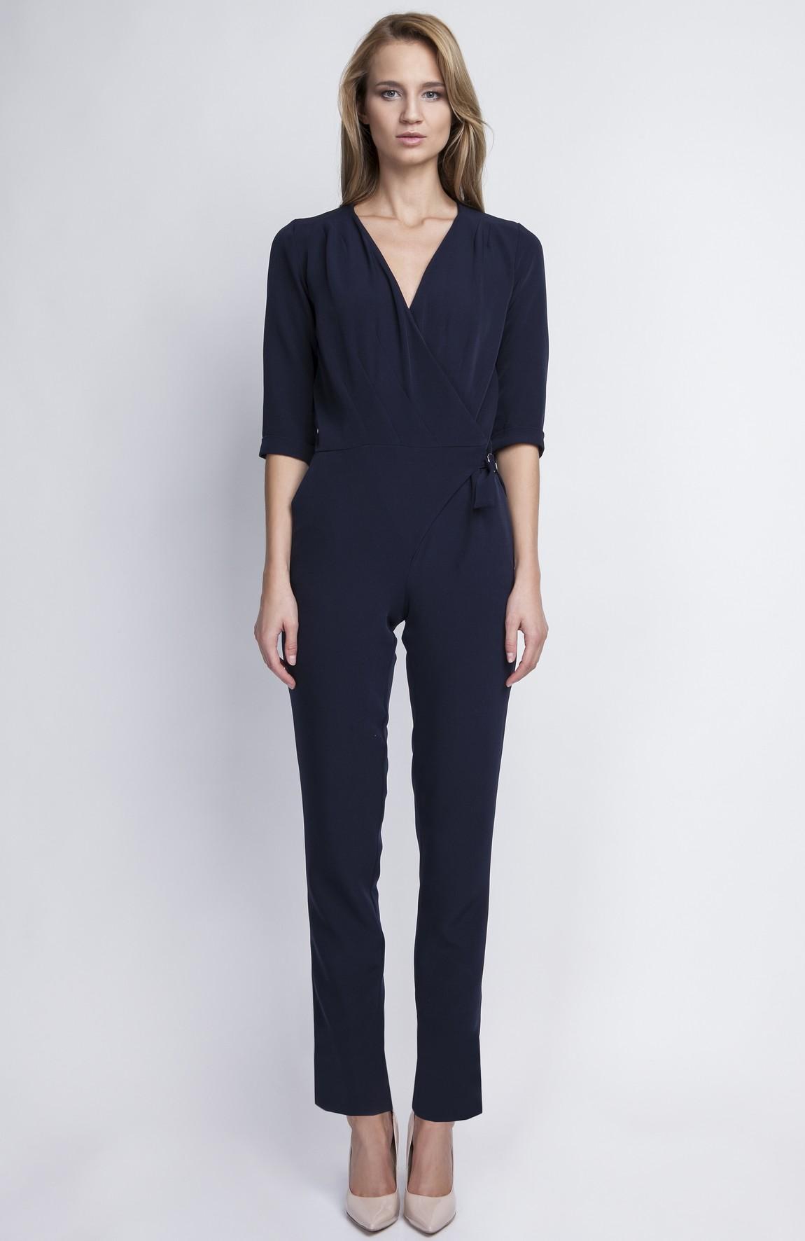 combinaison pantalon bleu marine lan 108 bl idresstocode. Black Bedroom Furniture Sets. Home Design Ideas