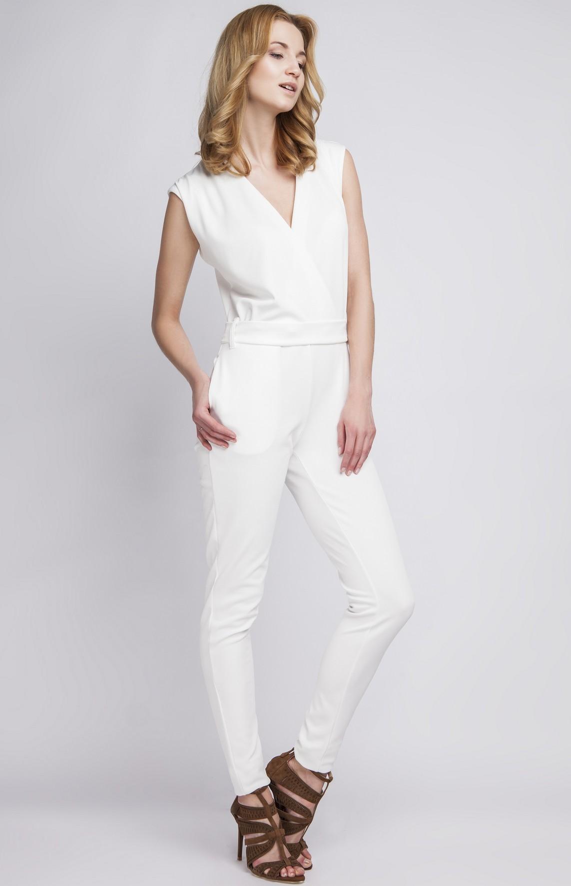combinaison pantalon sans manches blanches lan 109 b idresstocode boutique de d shabill s et. Black Bedroom Furniture Sets. Home Design Ideas
