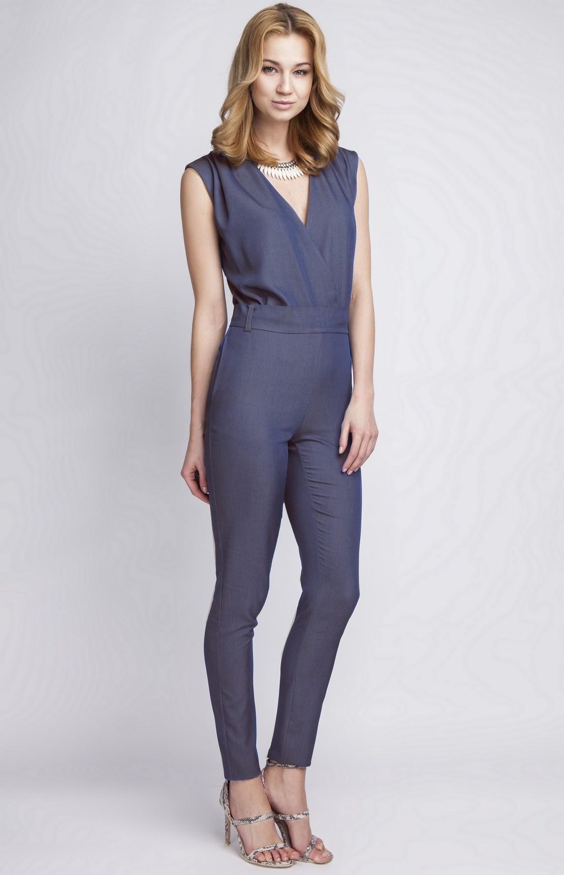 combinaison pantalon sans manches bleu denim lan 110 j idresstocode boutique de d shabill s. Black Bedroom Furniture Sets. Home Design Ideas