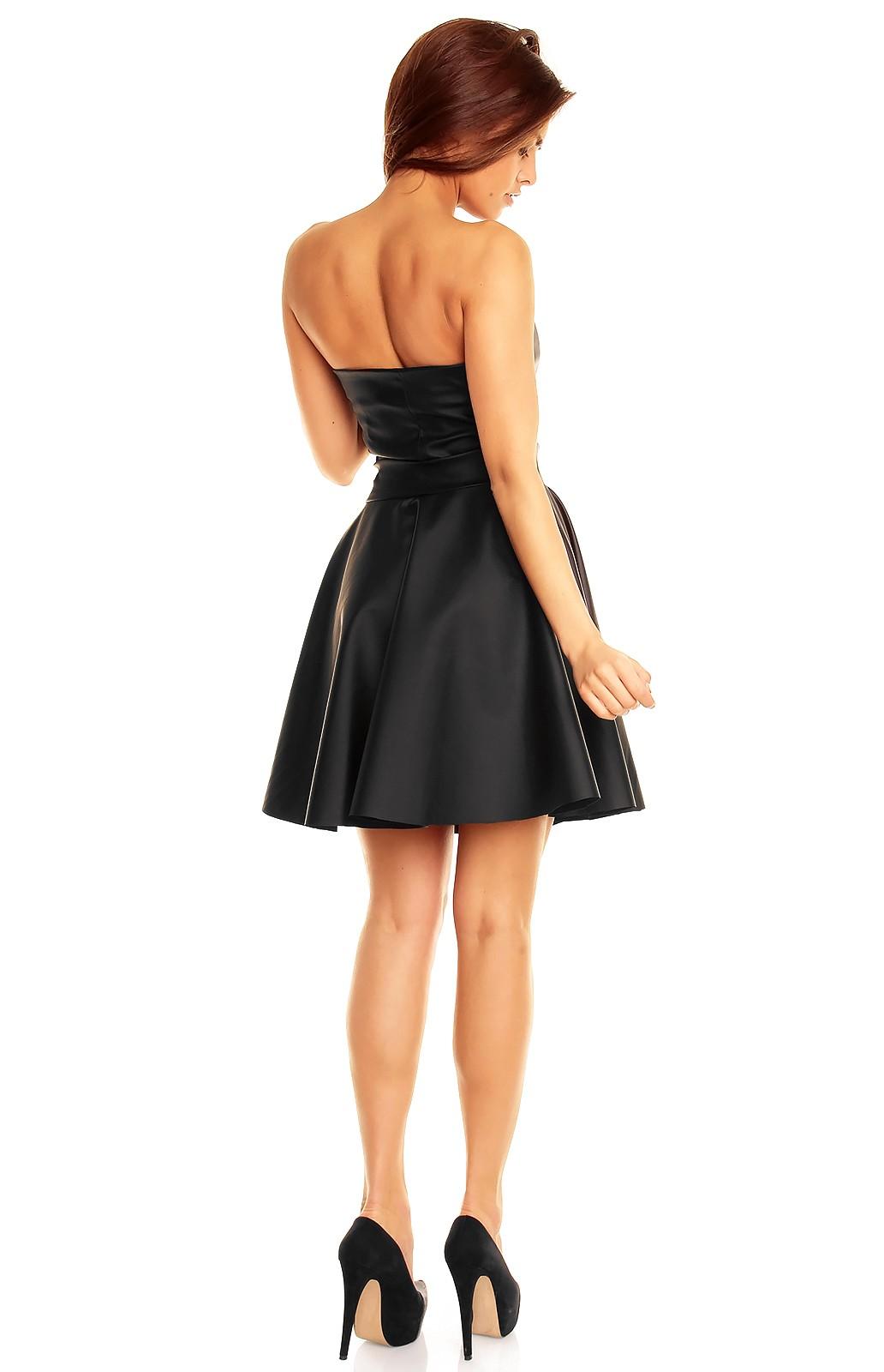 robe la mode robe bustier noire simili cuir. Black Bedroom Furniture Sets. Home Design Ideas