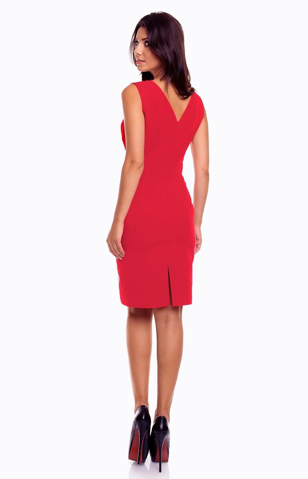 robe fourreau sans manches rouge km km185r idresstocode boutique de d shabill s et nuisettes. Black Bedroom Furniture Sets. Home Design Ideas