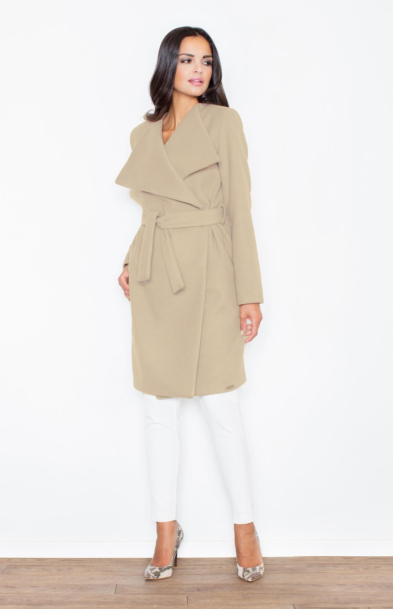 manteau femme ceintur beige flm408b idresstocode boutique de d shabill s et nuisettes robes. Black Bedroom Furniture Sets. Home Design Ideas