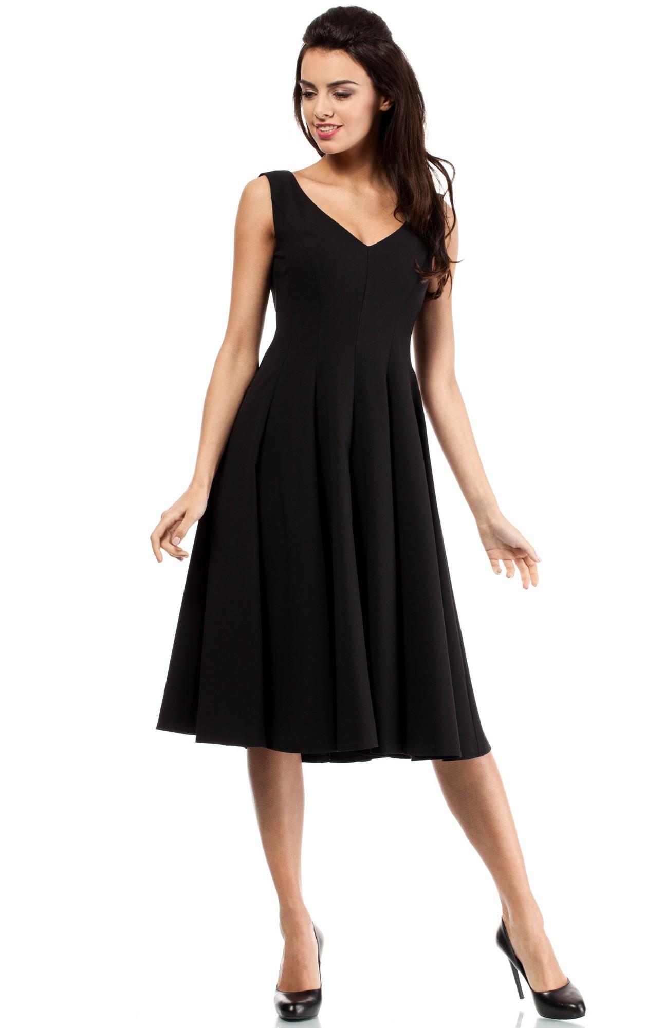 Longue robe noire fluide