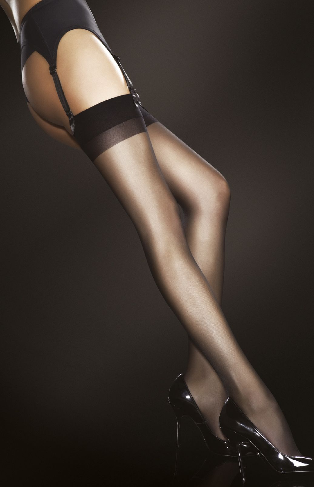 Pity, Suspenders stockings and heels