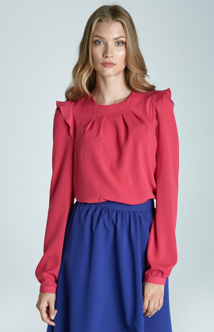 Pink Romantic Blouse Nib60r Idresstocode Online