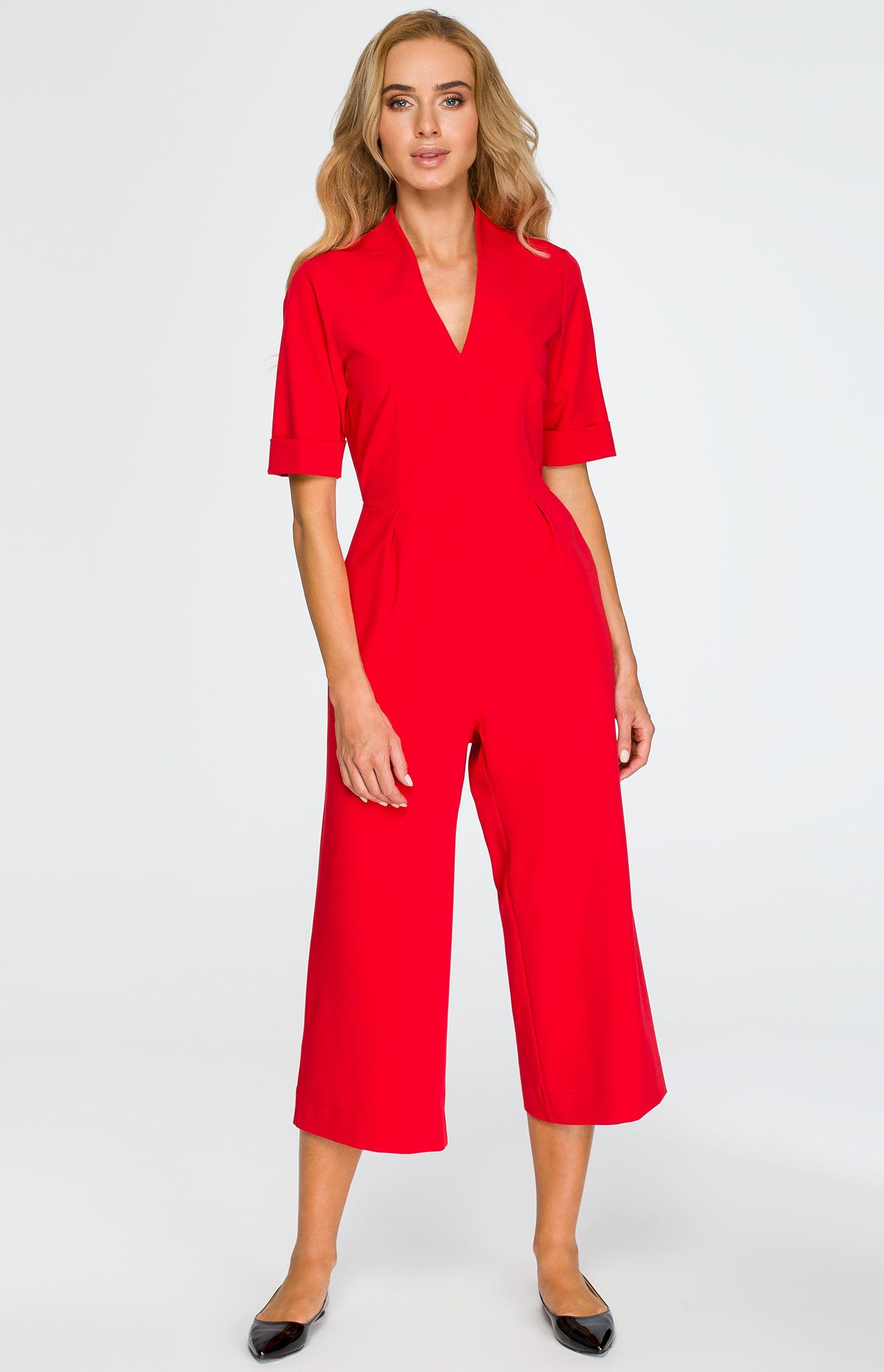vraiment à l'aise obtenir pas cher haute qualité Combinaison pantalon court rouge