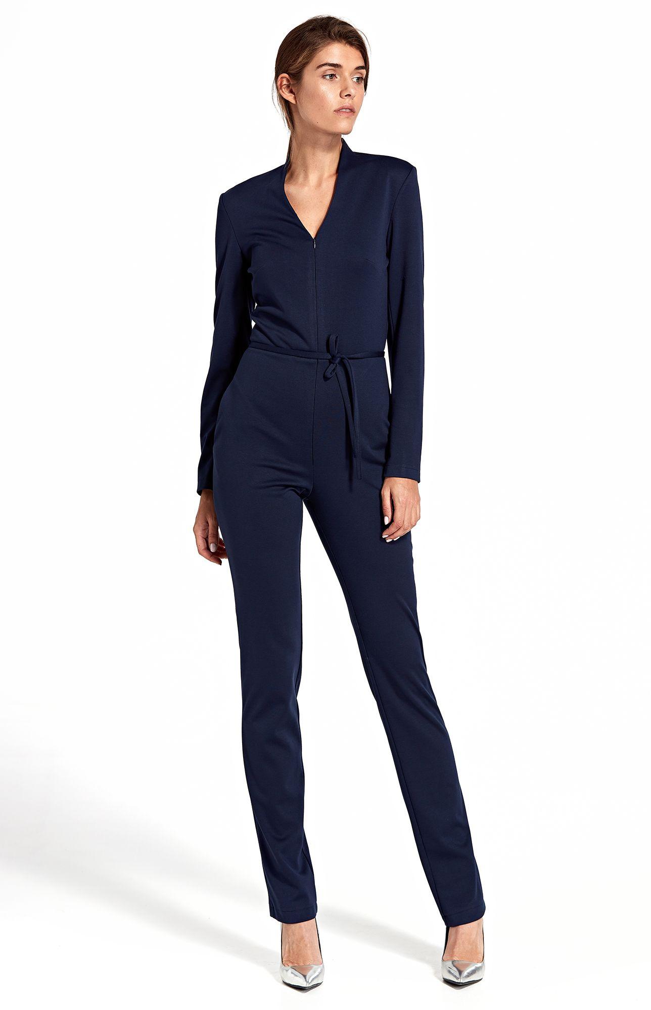 combinaison pantalon zipp e bleu marine nik09bm. Black Bedroom Furniture Sets. Home Design Ideas