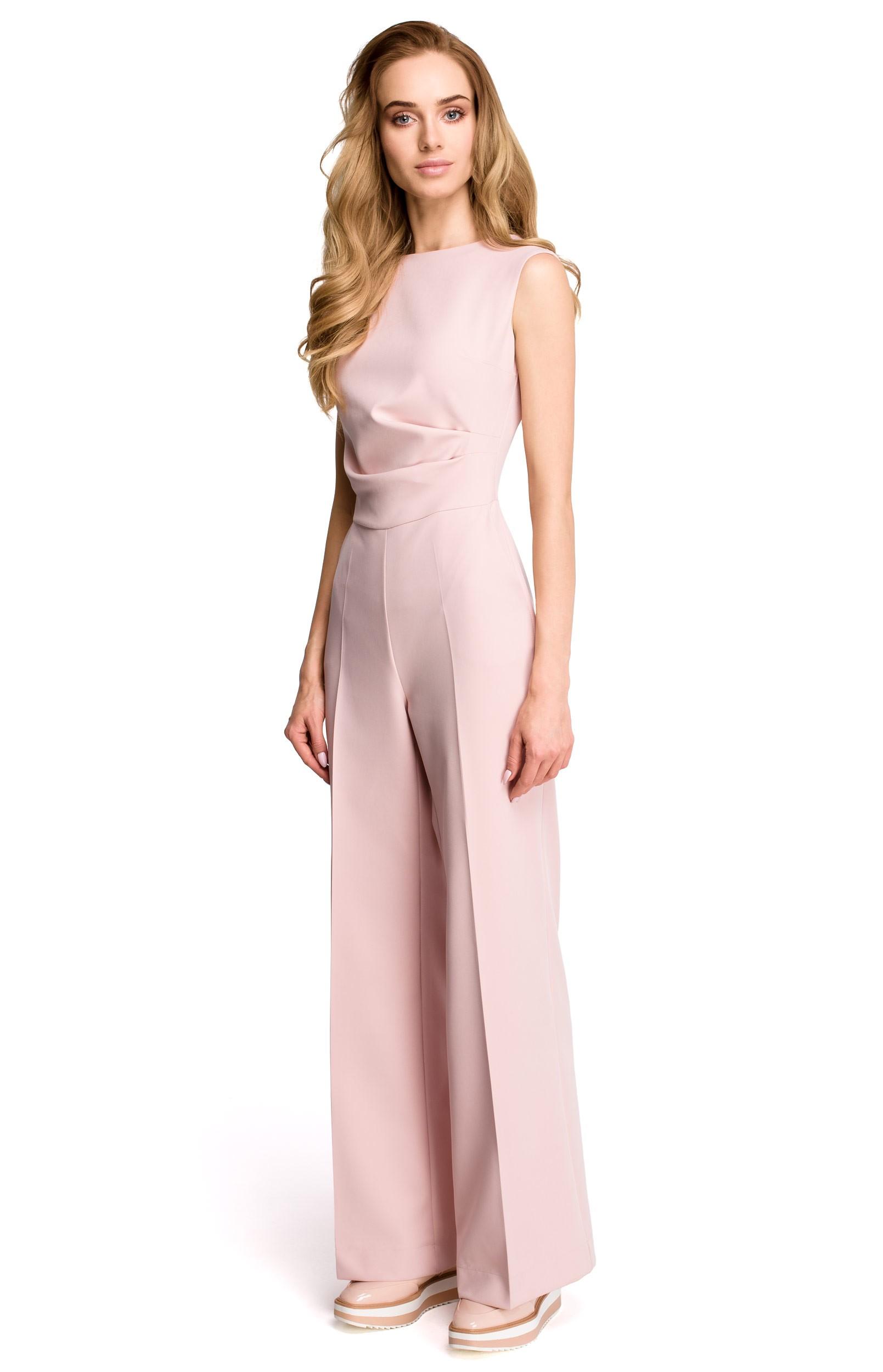 combinaison pantalon drap e rose style s115ro. Black Bedroom Furniture Sets. Home Design Ideas