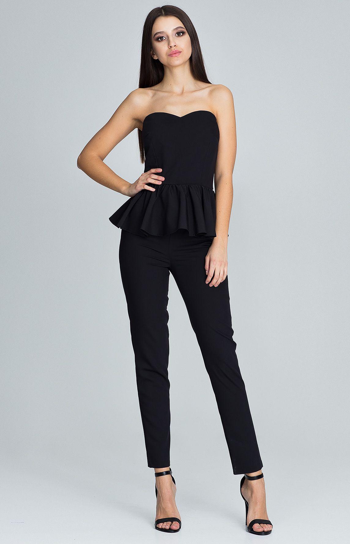 ensemble bustier pantalon noir flm606n idresstocode boutique de d shabill s et nuisettes. Black Bedroom Furniture Sets. Home Design Ideas