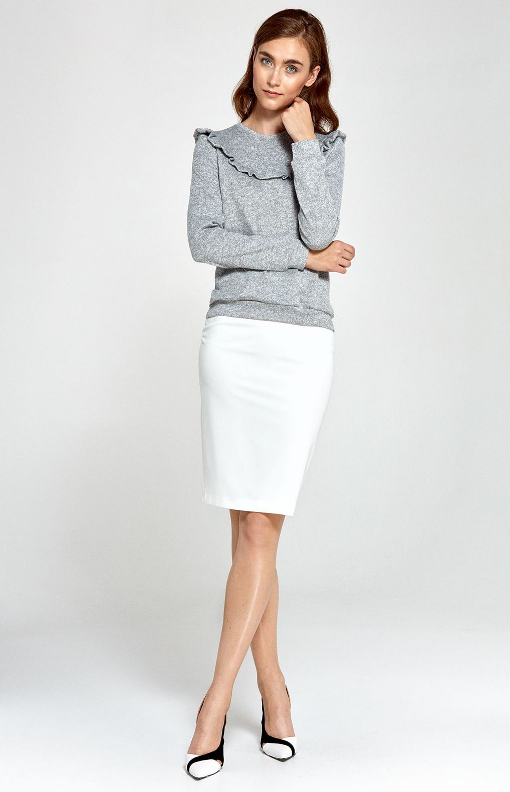 white pencil skirt nip34e idresstocode online boutique. Black Bedroom Furniture Sets. Home Design Ideas