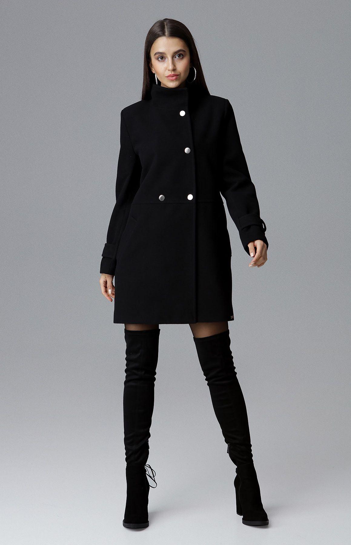 Manteau chic bleu marine femme