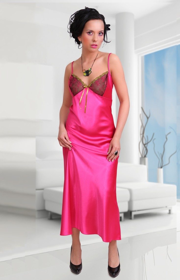 Satin long nighties for women sexy