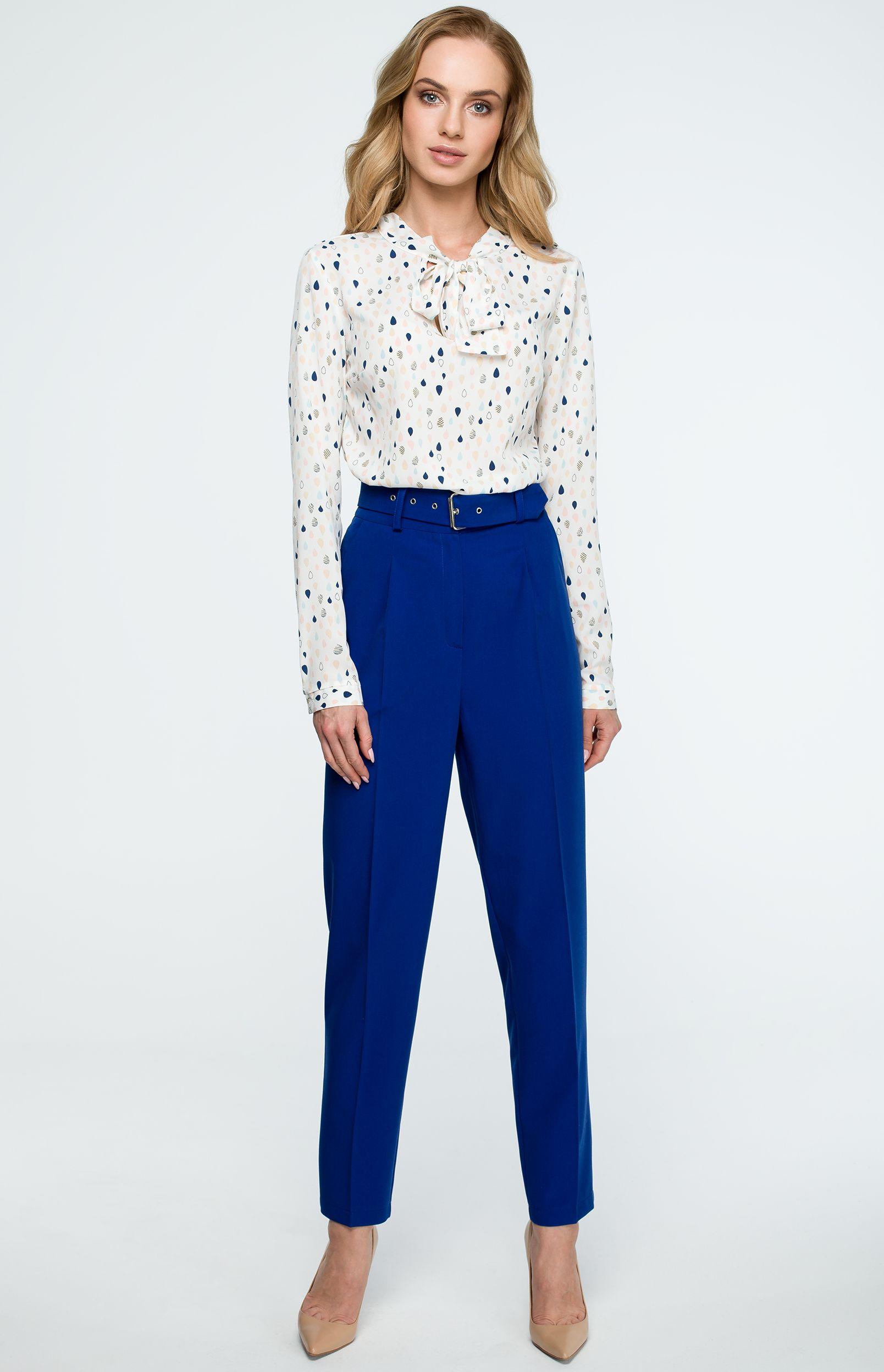 39c4cf1ade8a0a Pantalon cigarette bleu