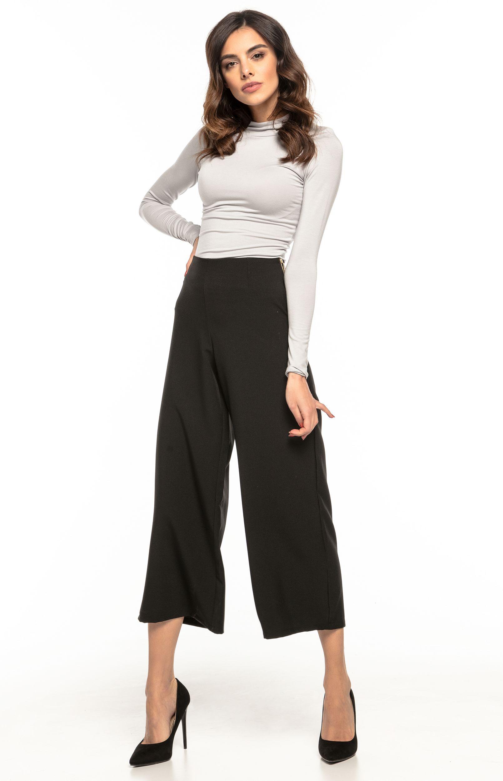 Large Haute Haute Large Noir Taille Noir Pantalon Large Taille Taille Pantalon Pantalon jL5A4R