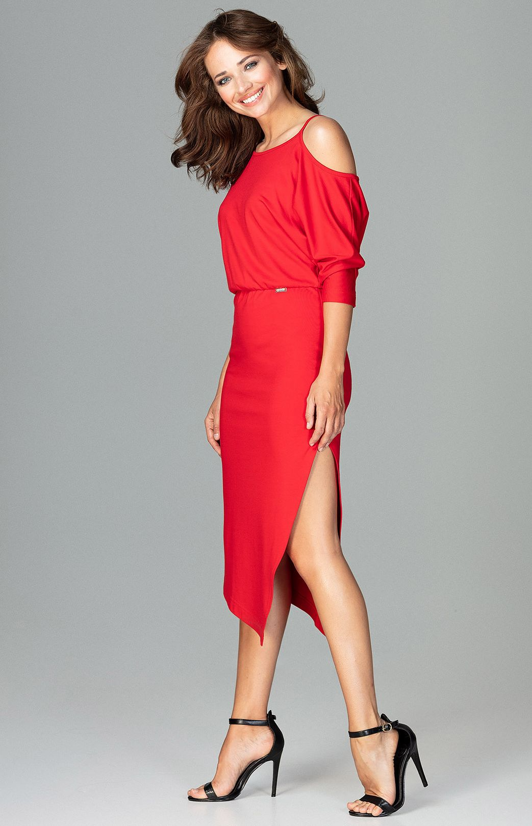 Red Asymmetrical Tango Dress Flk479r Idresstocode Online Boutique Of Negligee And Nightgowns Elegant Dresses Pencil Skirts And Blouses Leather Skirts High Heel S