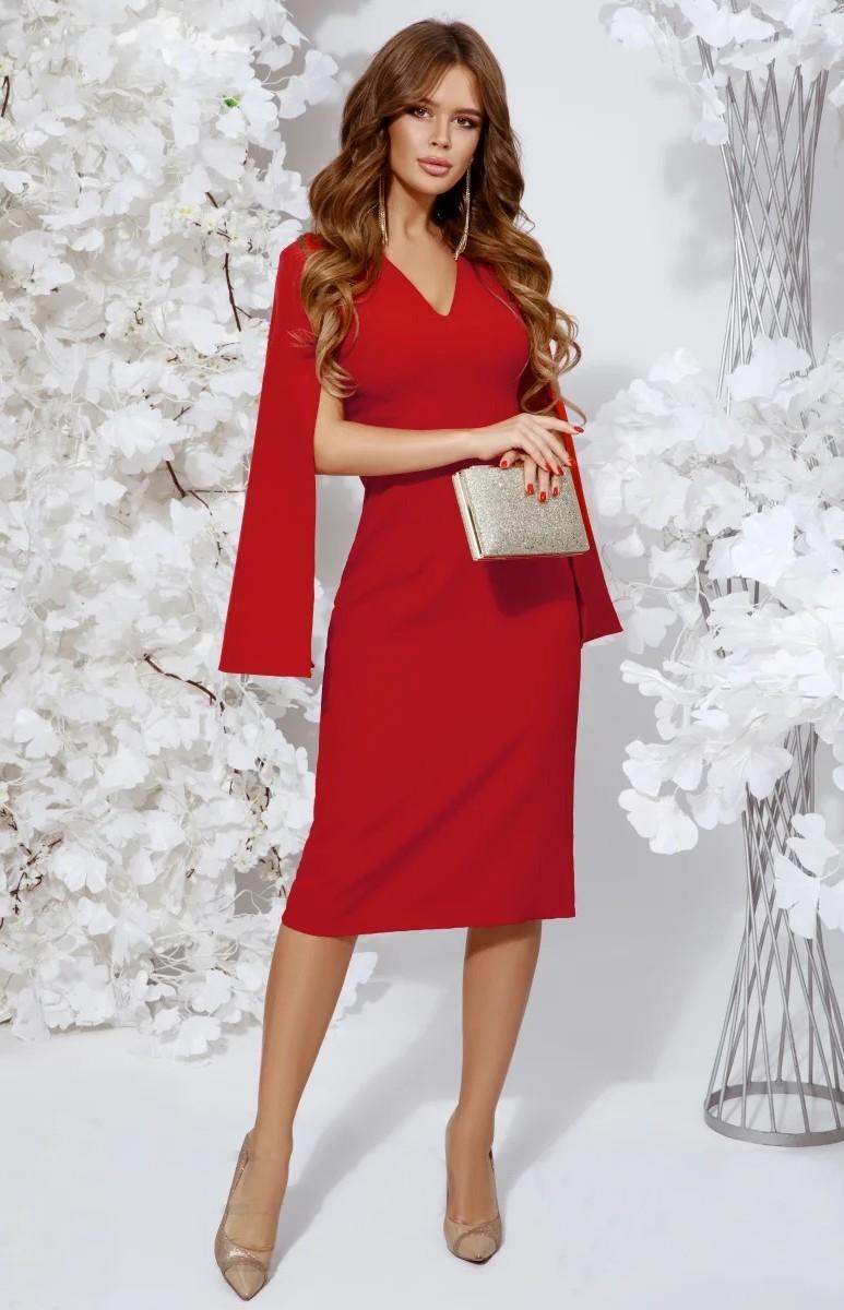 Robe Cocktail Fourreau Rouge Ge33405 Idresstocode Boutique De Deshabilles Et Nuisettes Robes Et Jupes