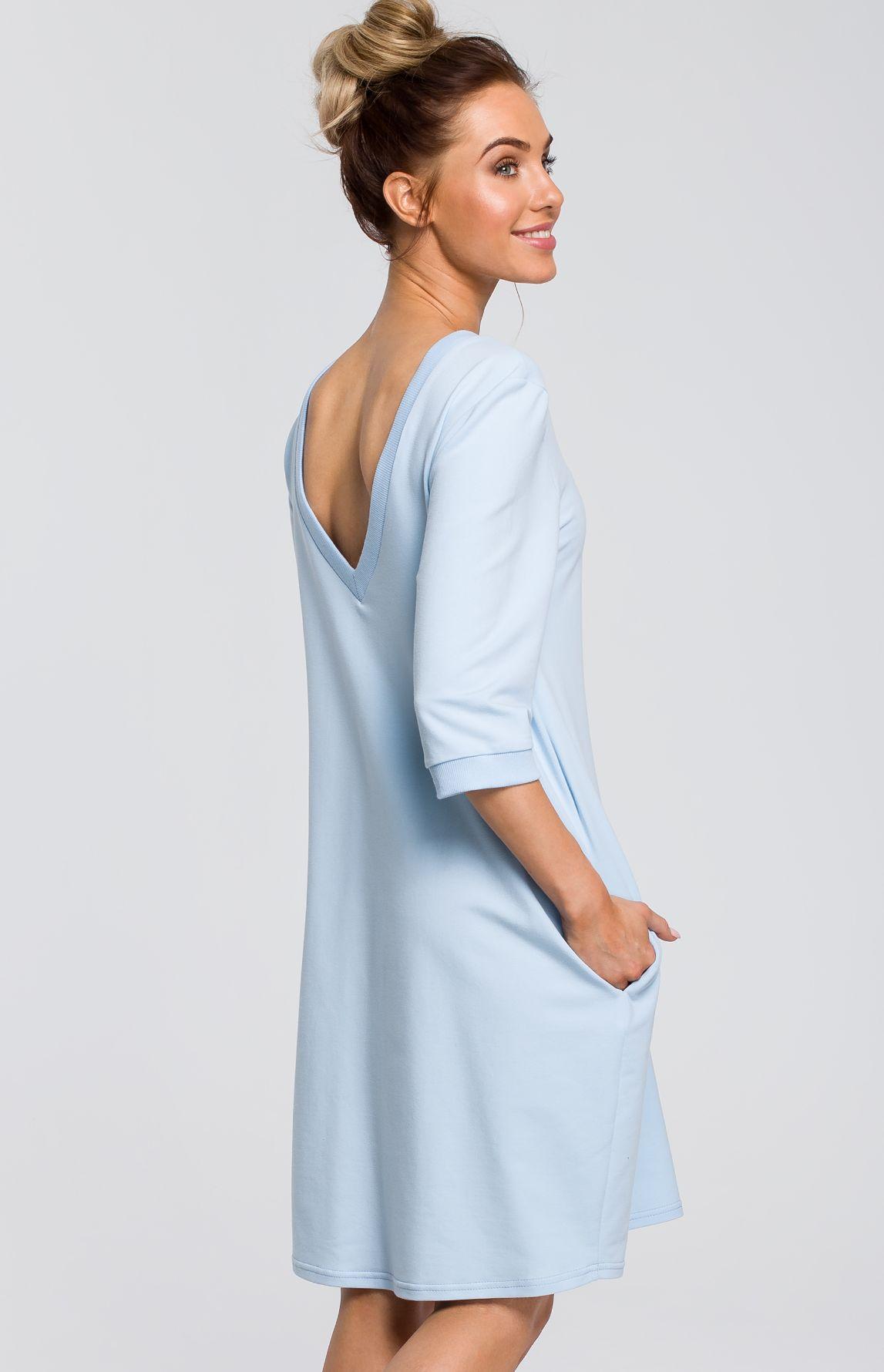 meilleur service 97124 deeca Robe sweat oversize bleu clair