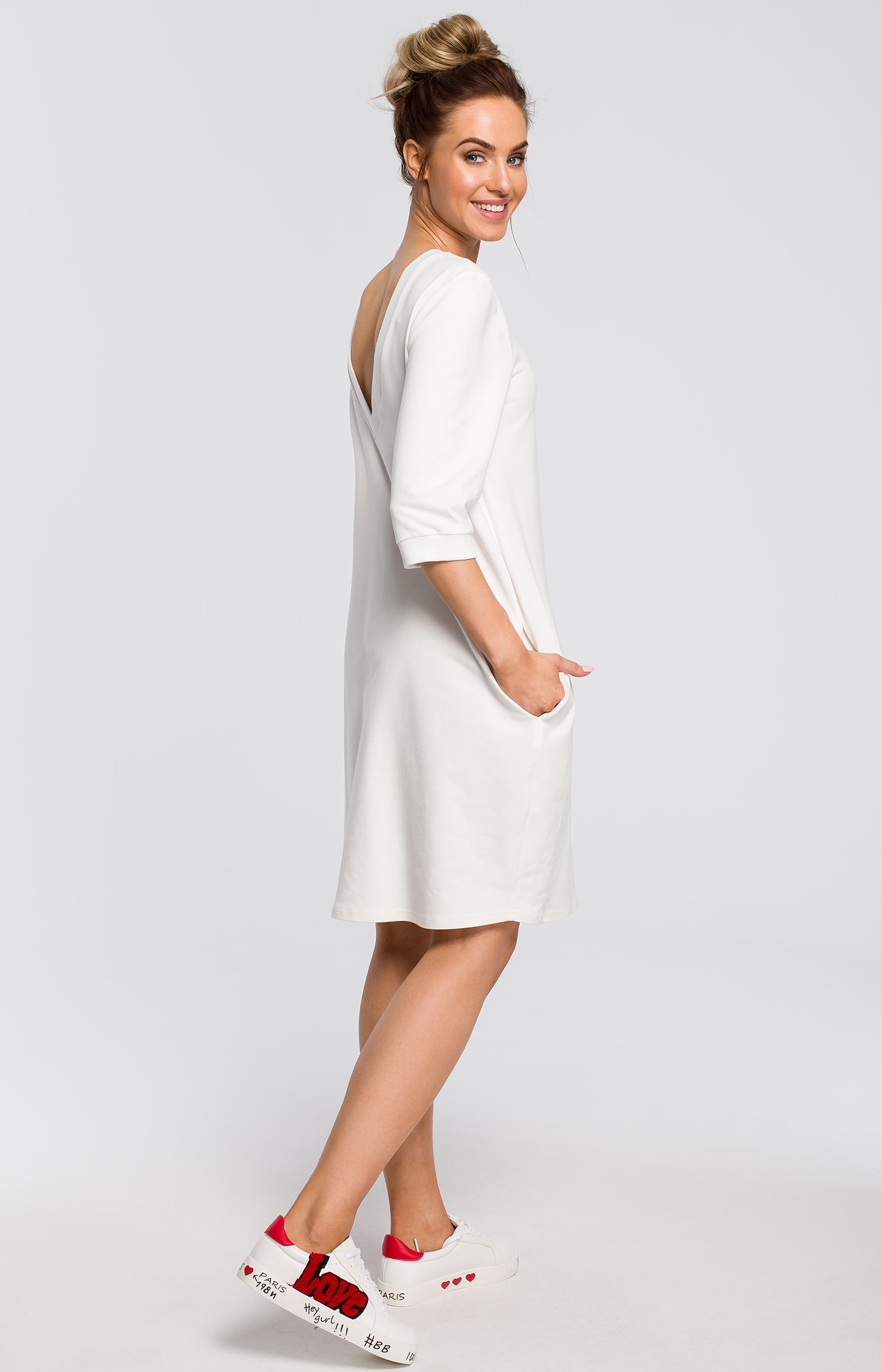 0871192a317 Robe sweat oversize écru Made of Emotion ME417E   idresstocode  boutique de  déshabillés et nuisettes