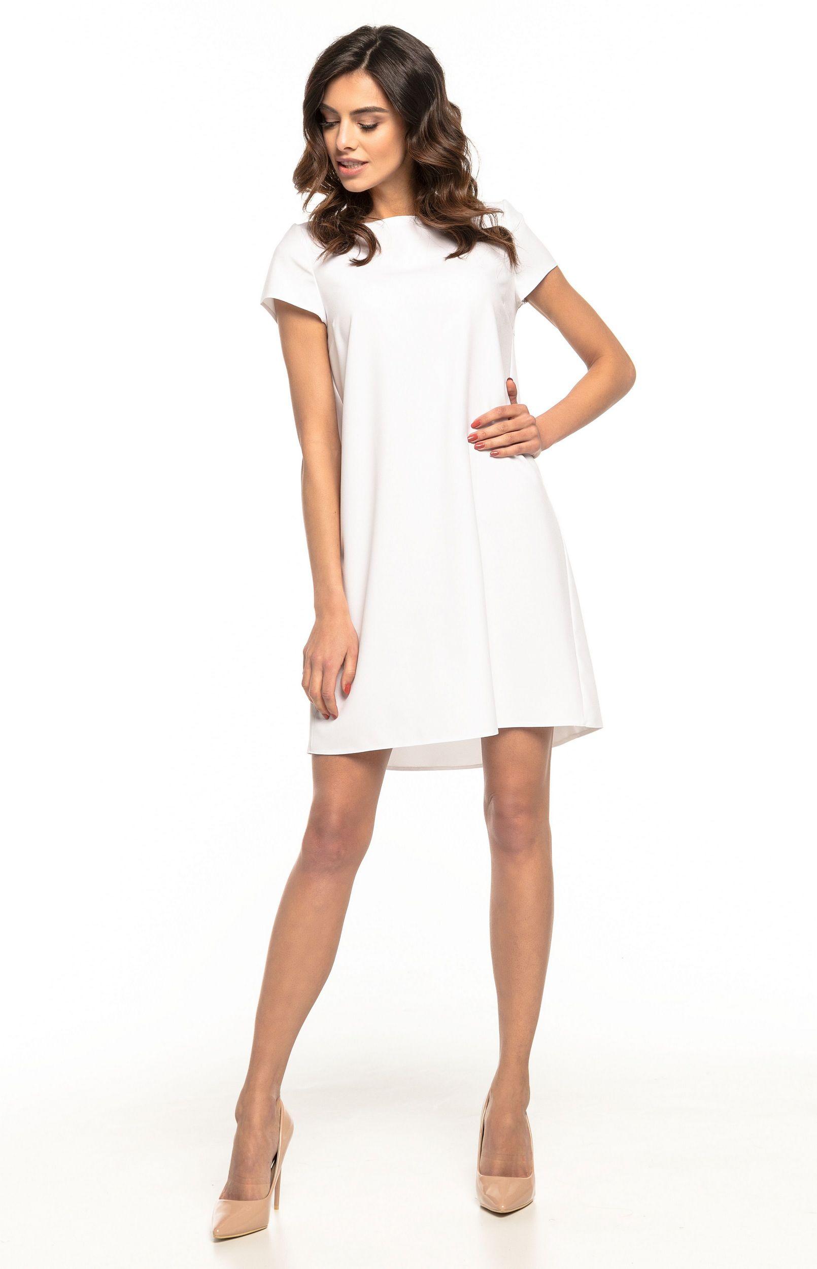 59a3d25abf2 Robe ample courte blanche Tess T261W   idresstocode  boutique de ...