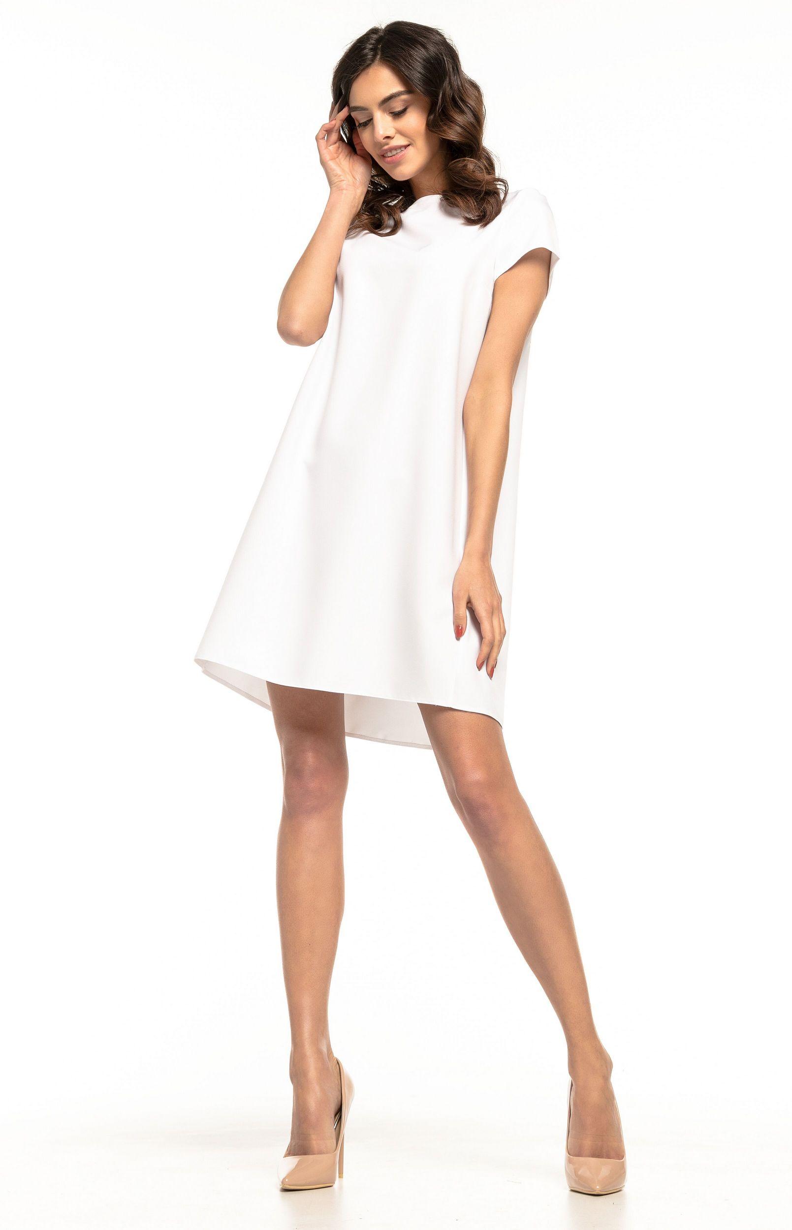 713b11d7eef Robe ample courte blanche Tess T261W   idresstocode  boutique de  déshabillés et nuisettes