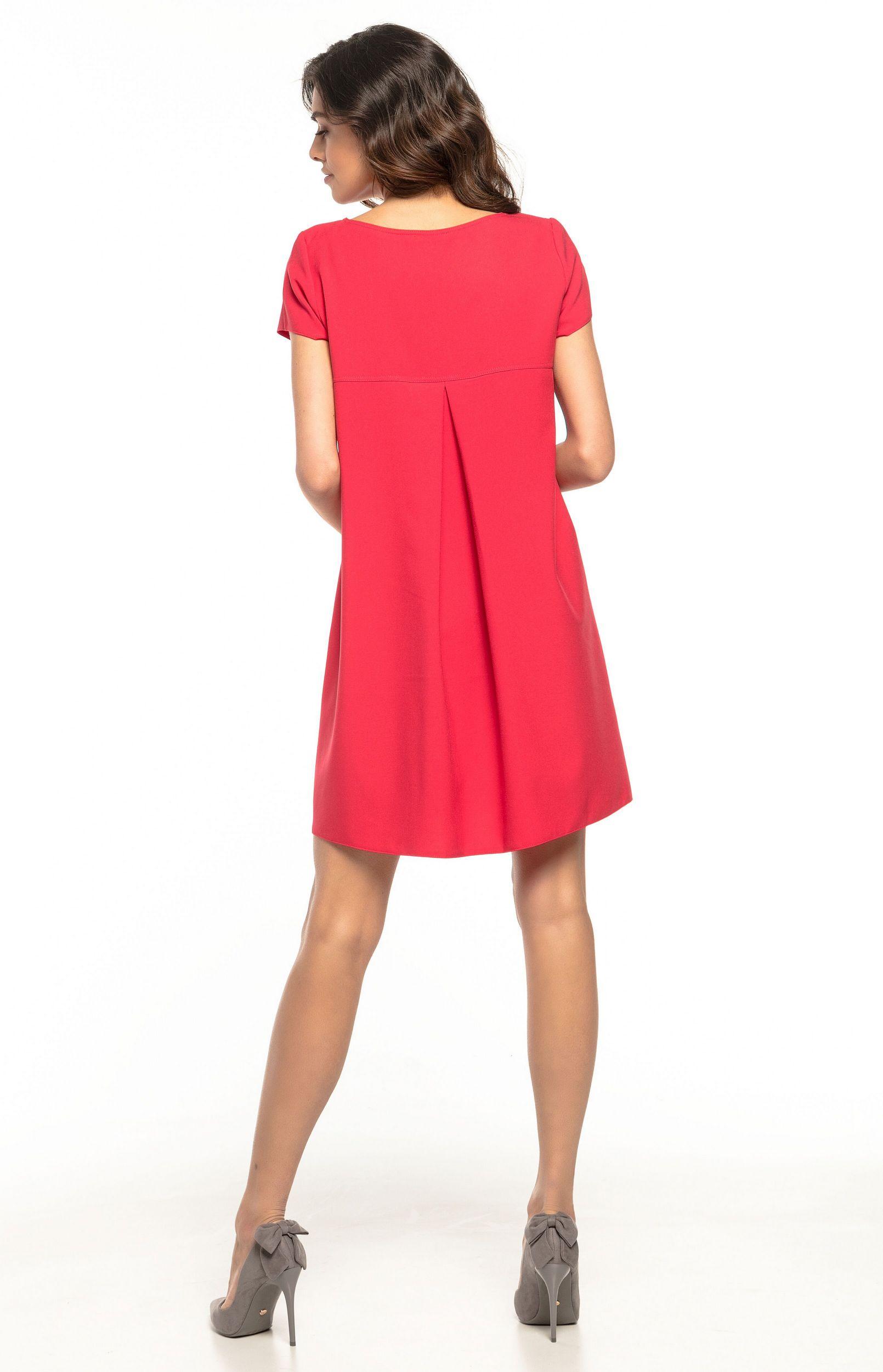6362959fe7e Robe ample courte rouge Tess T261R   idresstocode  boutique de déshabillés  et nuisettes