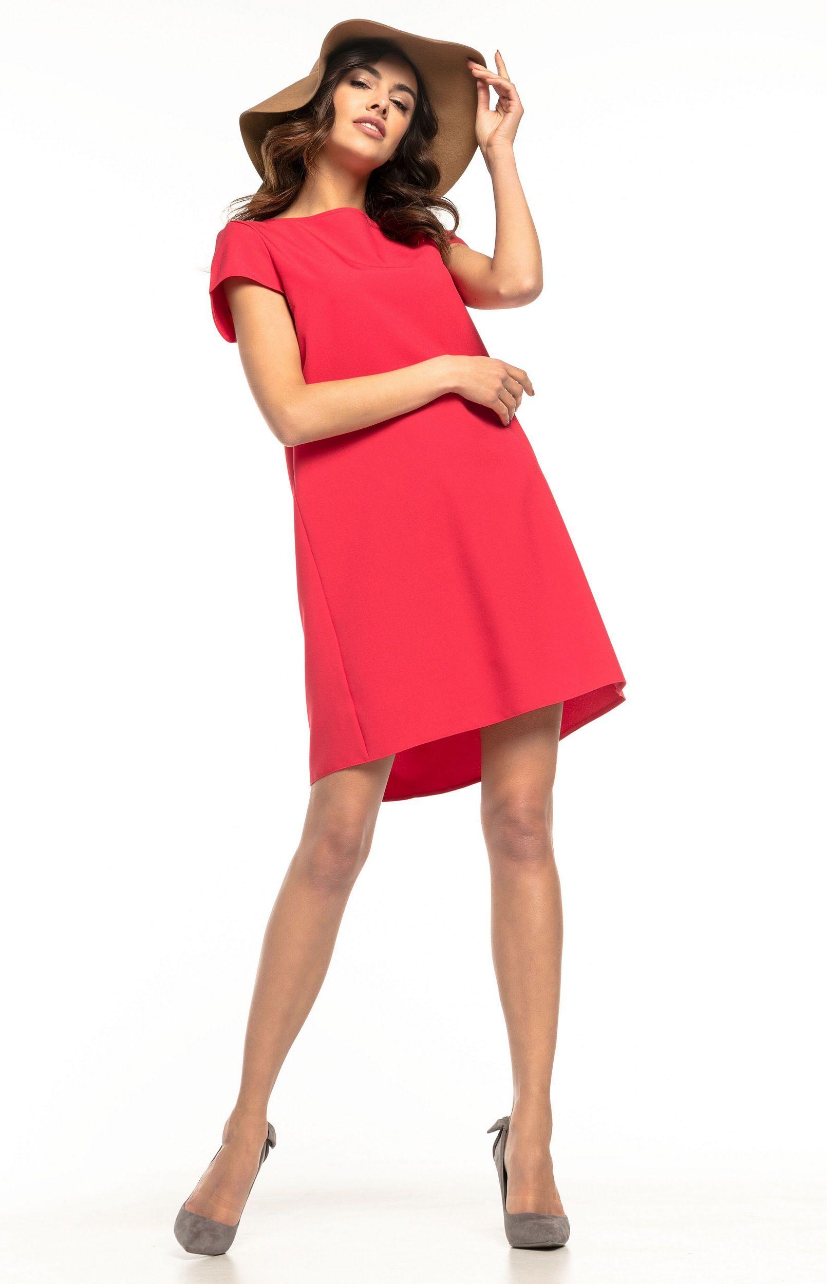 9eddc838232 Robe ample courte rouge Tess T261R   idresstocode  boutique de ...
