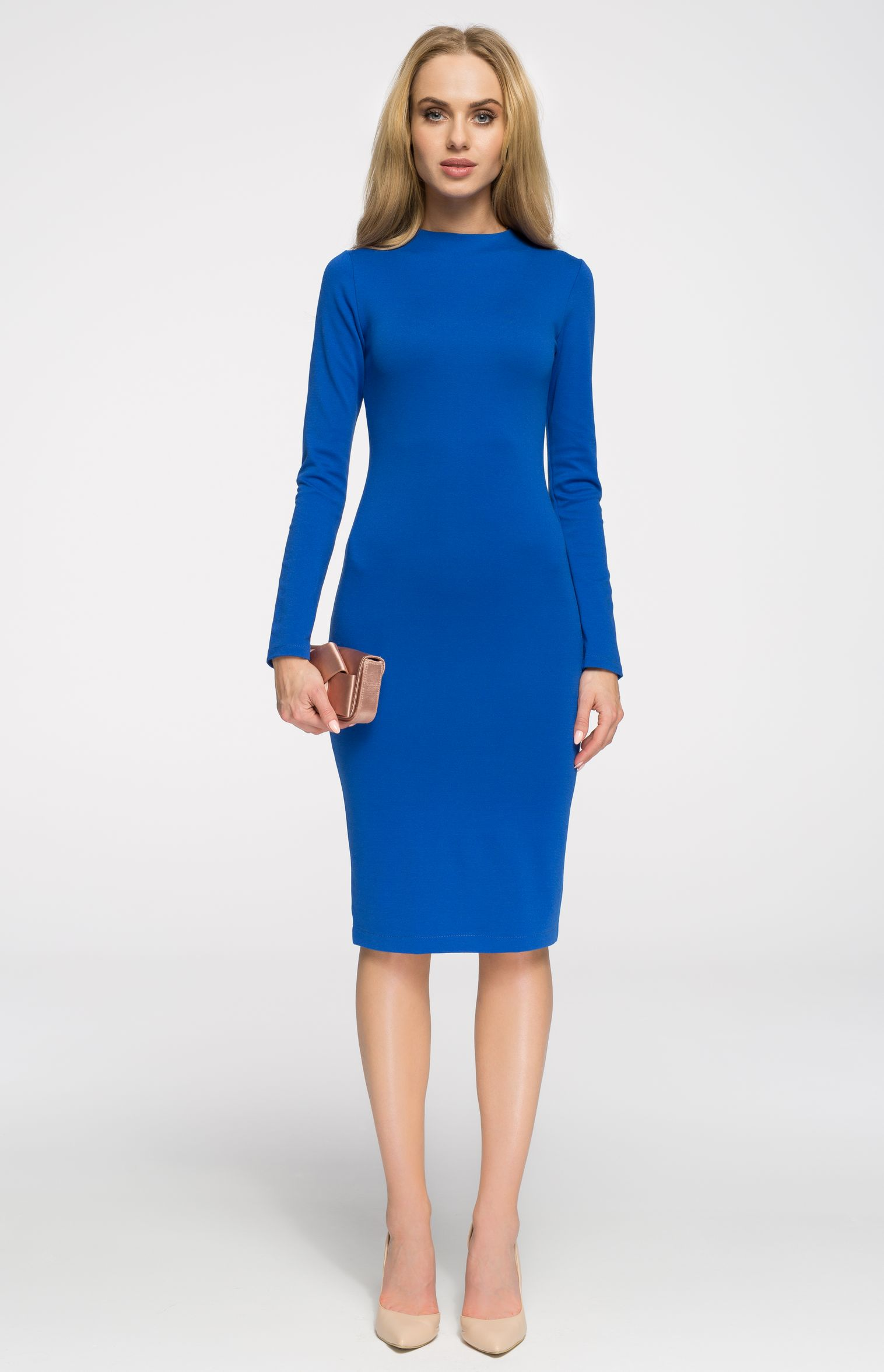 Robe Fourreau Cosy Bleu Roi Style S033br Idresstocode Boutique De Deshabilles Et Nuisettes Robes Et Jupes