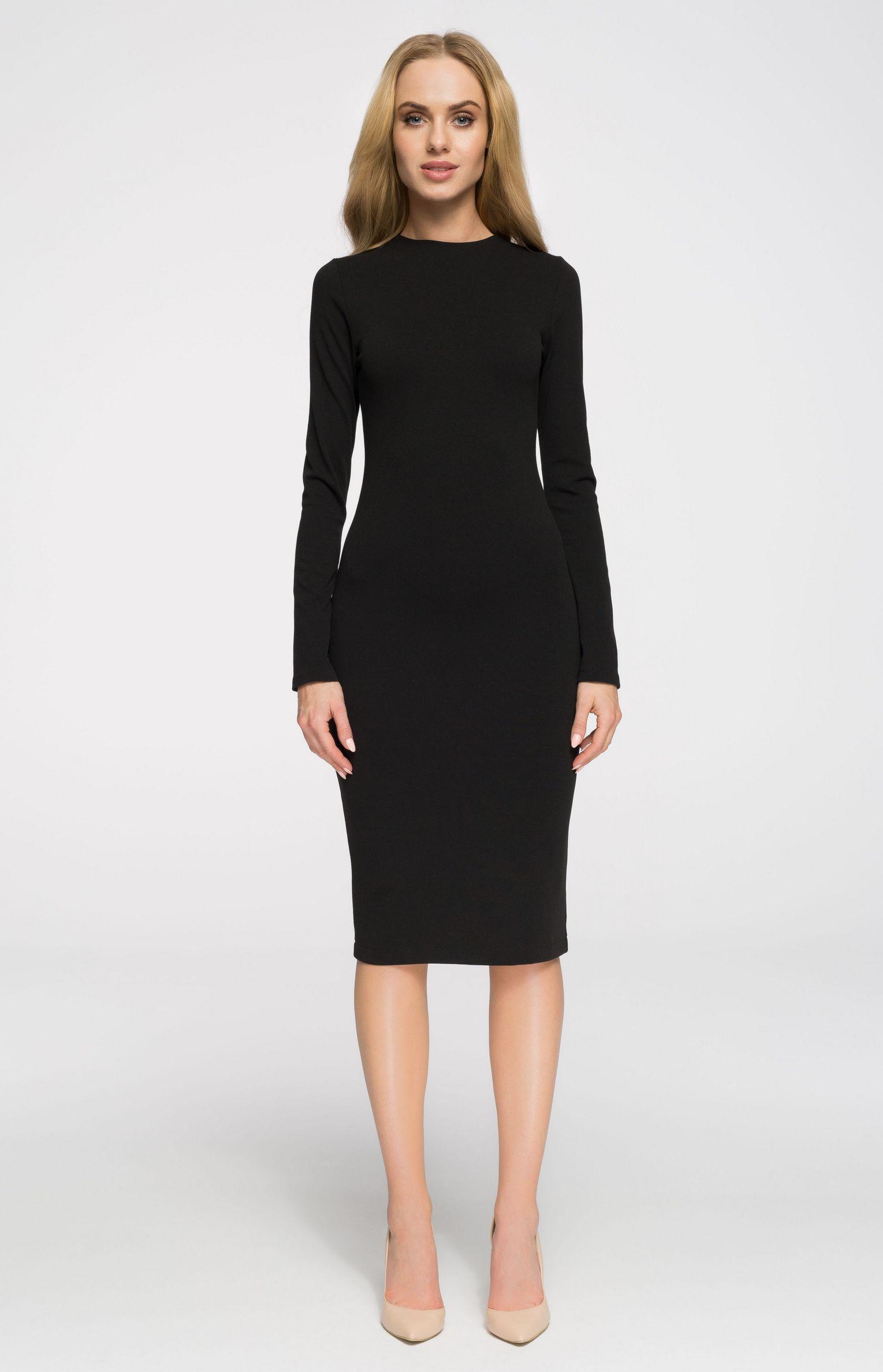 bd197104490 Robe fourreau cosy noire Style S033N   idresstocode  boutique de  déshabillés et nuisettes