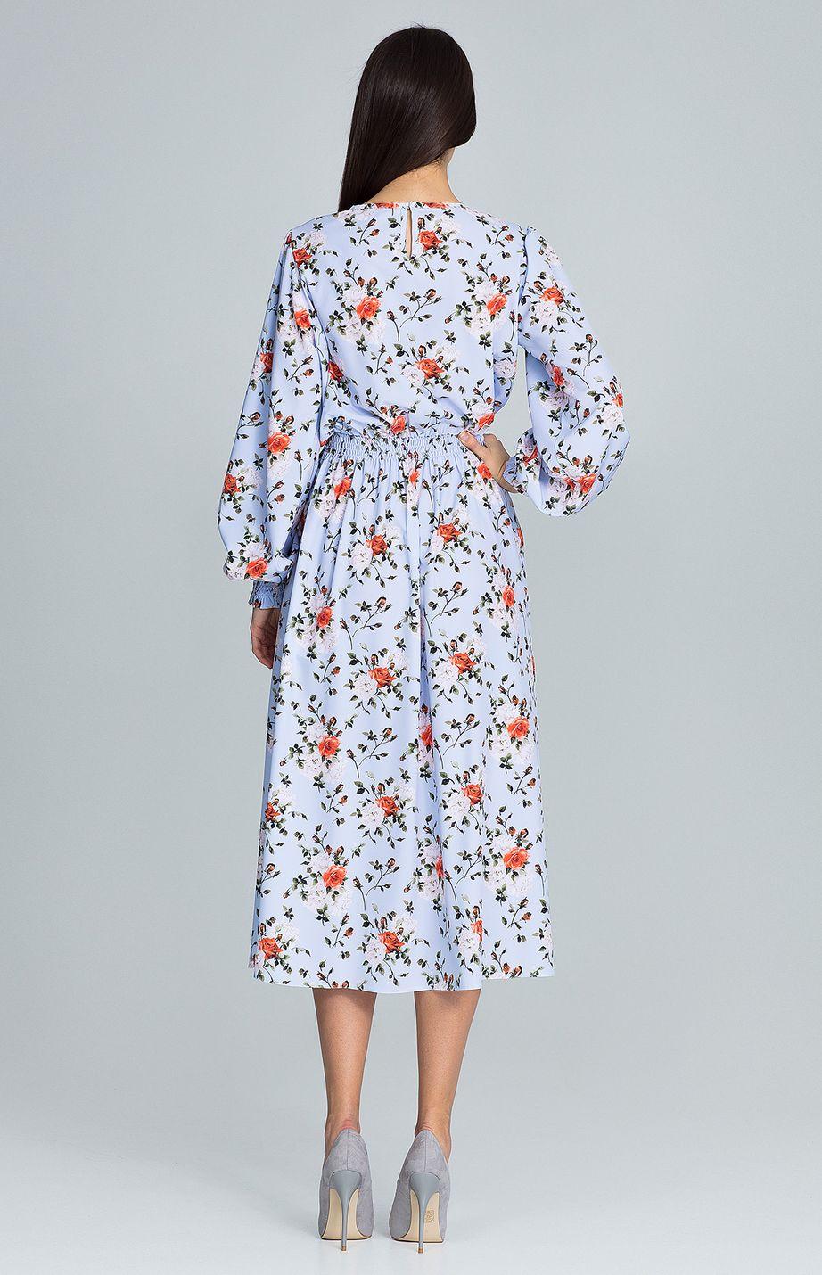 ed144693d23 Robe longue imprimée fleurs Liberty FLM600 76   idresstocode  boutique de  déshabillés et nuisettes