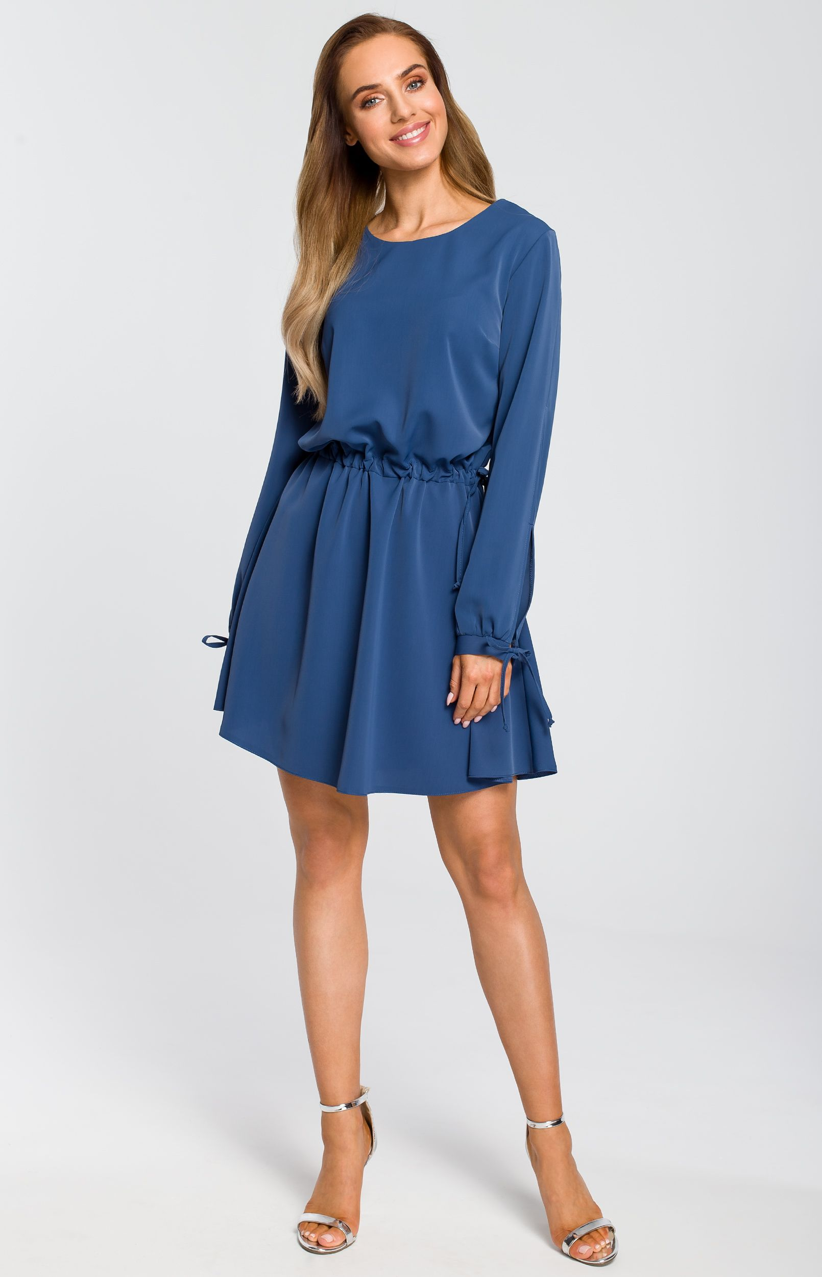 4da93dc094a Robe style Boho bleue Made of Emotion ME426B   idresstocode ...