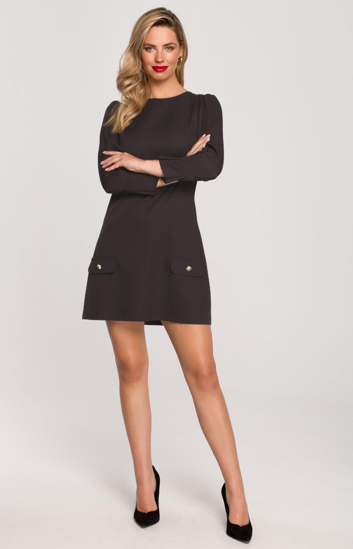 robe trap ze manches longues noire style s007n idresstocode boutique de d shabill s et. Black Bedroom Furniture Sets. Home Design Ideas