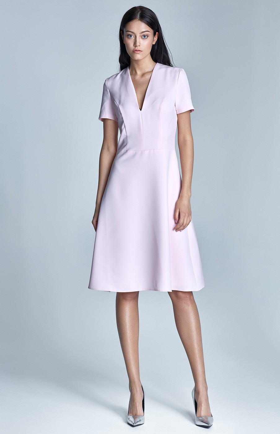 Short sleeve pink cocktail dress NIS71R : idresstocode: online ...