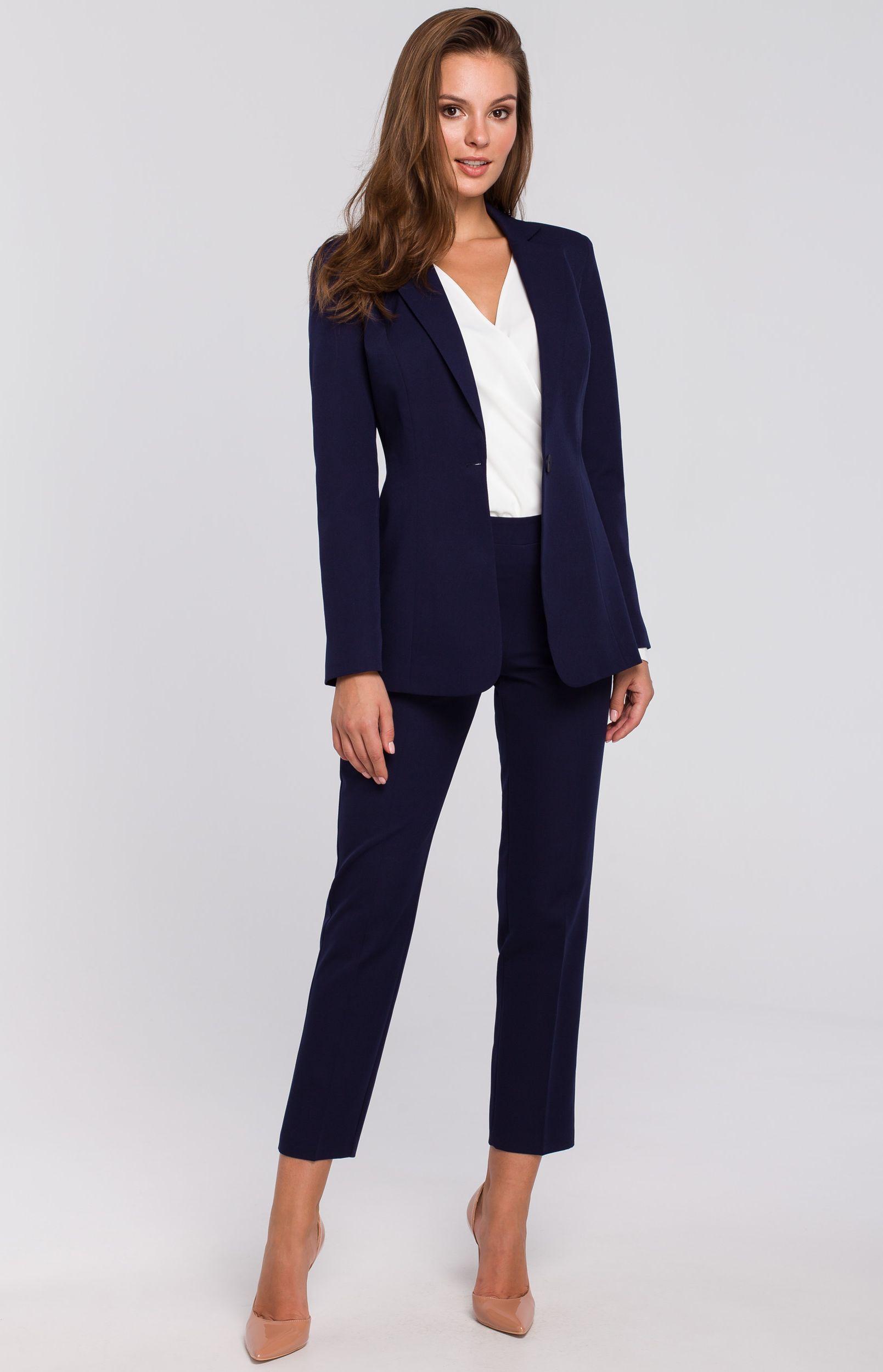 Tailleur pantalon bleu marine Makeover K0