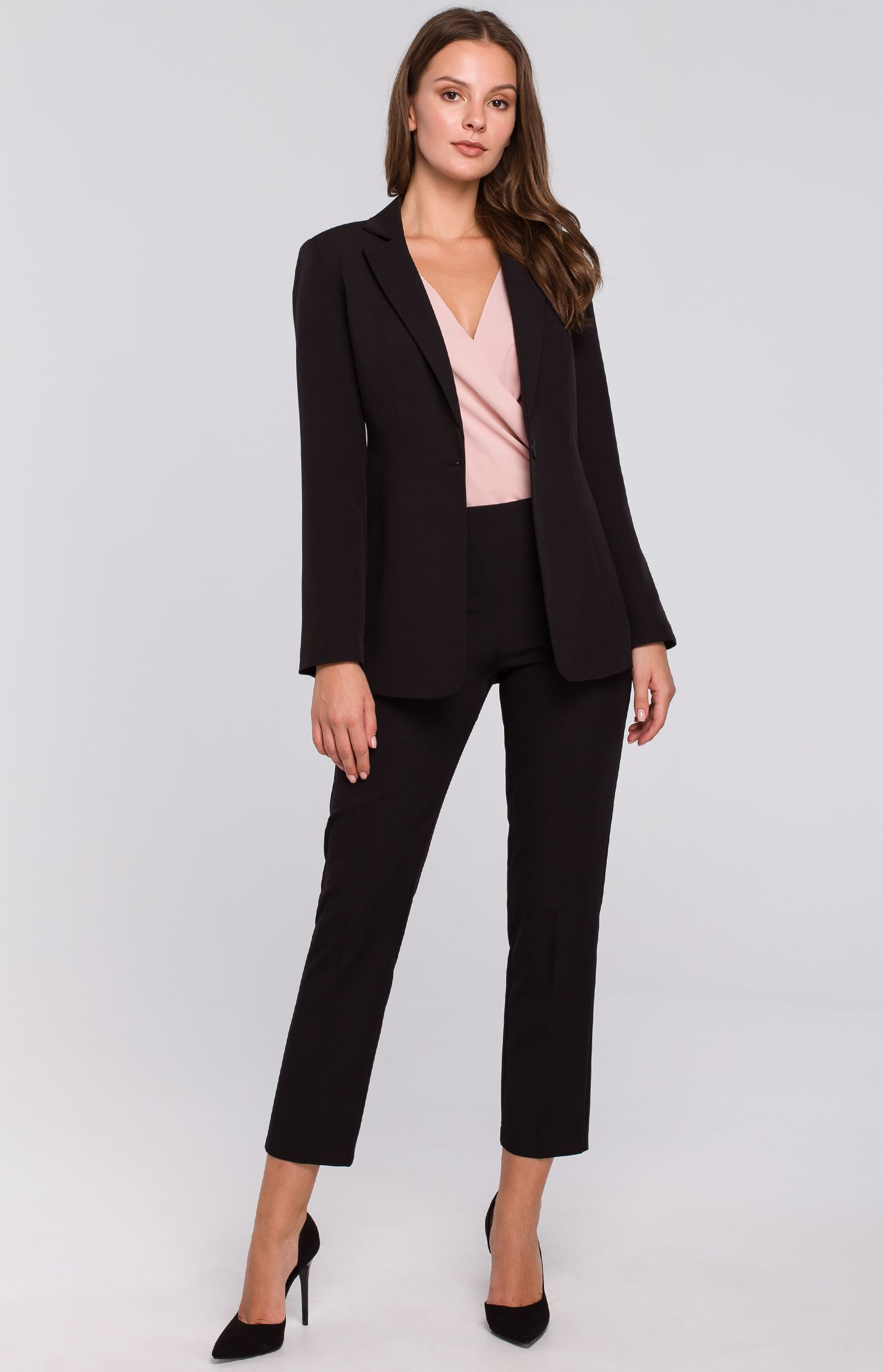 Tailleur pantalon noir Makeover K03635N :