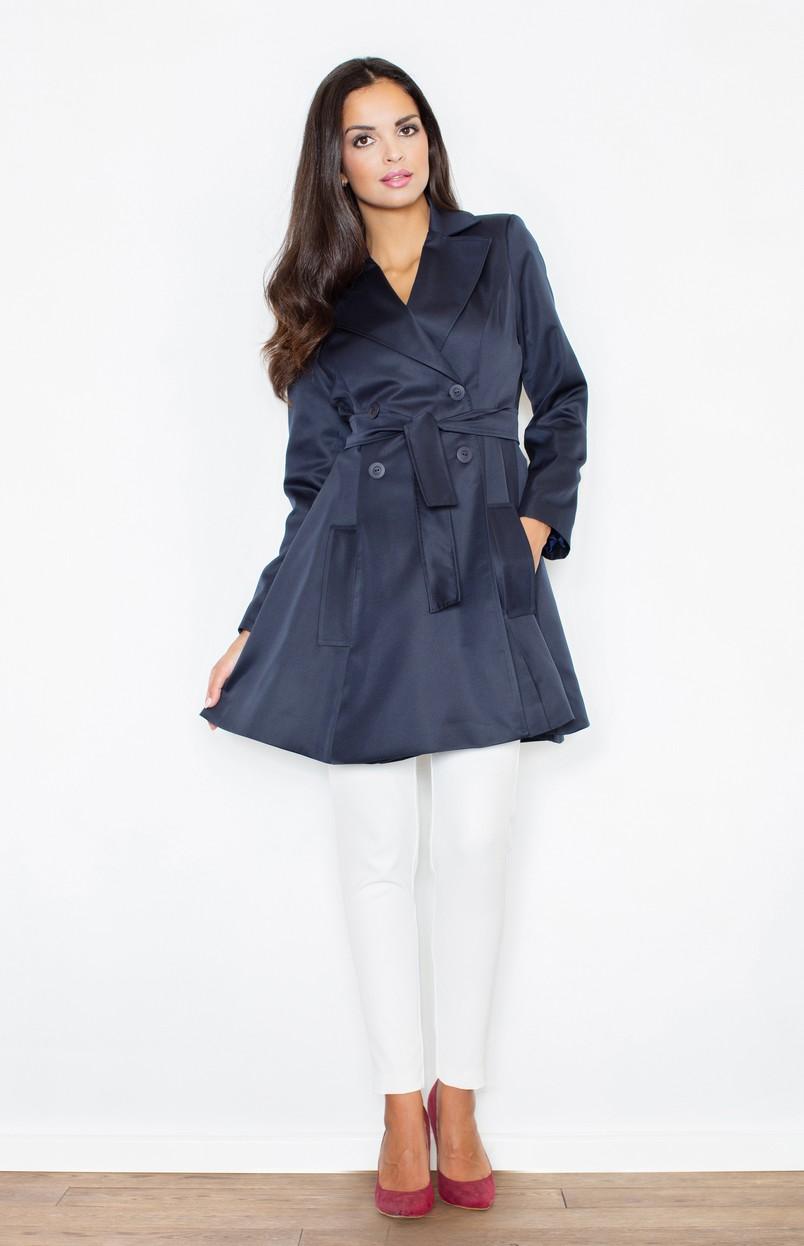 trench femme cabourg bleu marine flm403bm idresstocode boutique de d shabill s et nuisettes. Black Bedroom Furniture Sets. Home Design Ideas