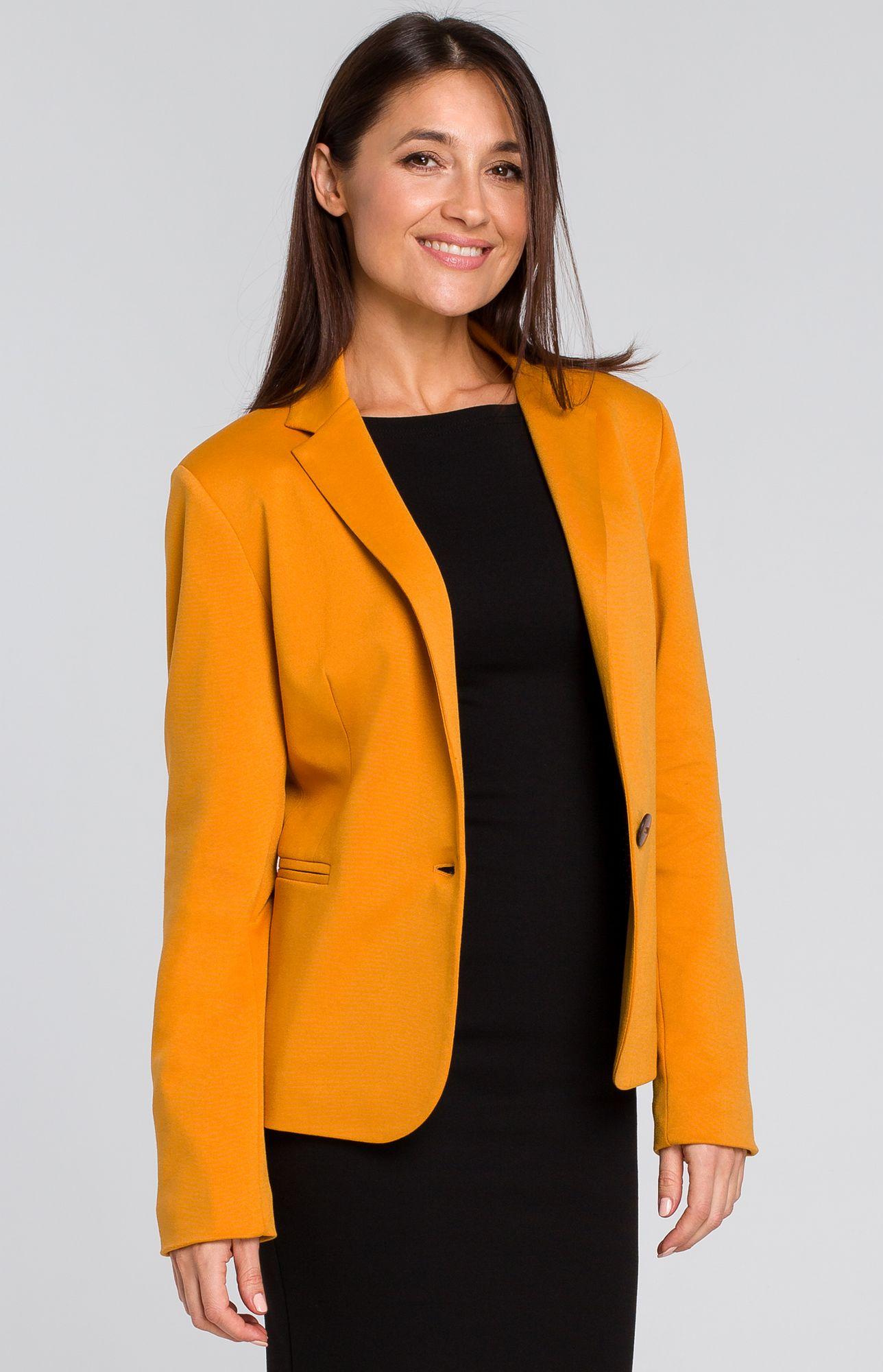 genuine shoes official shop best supplier Veste blazer 1 bouton jaune