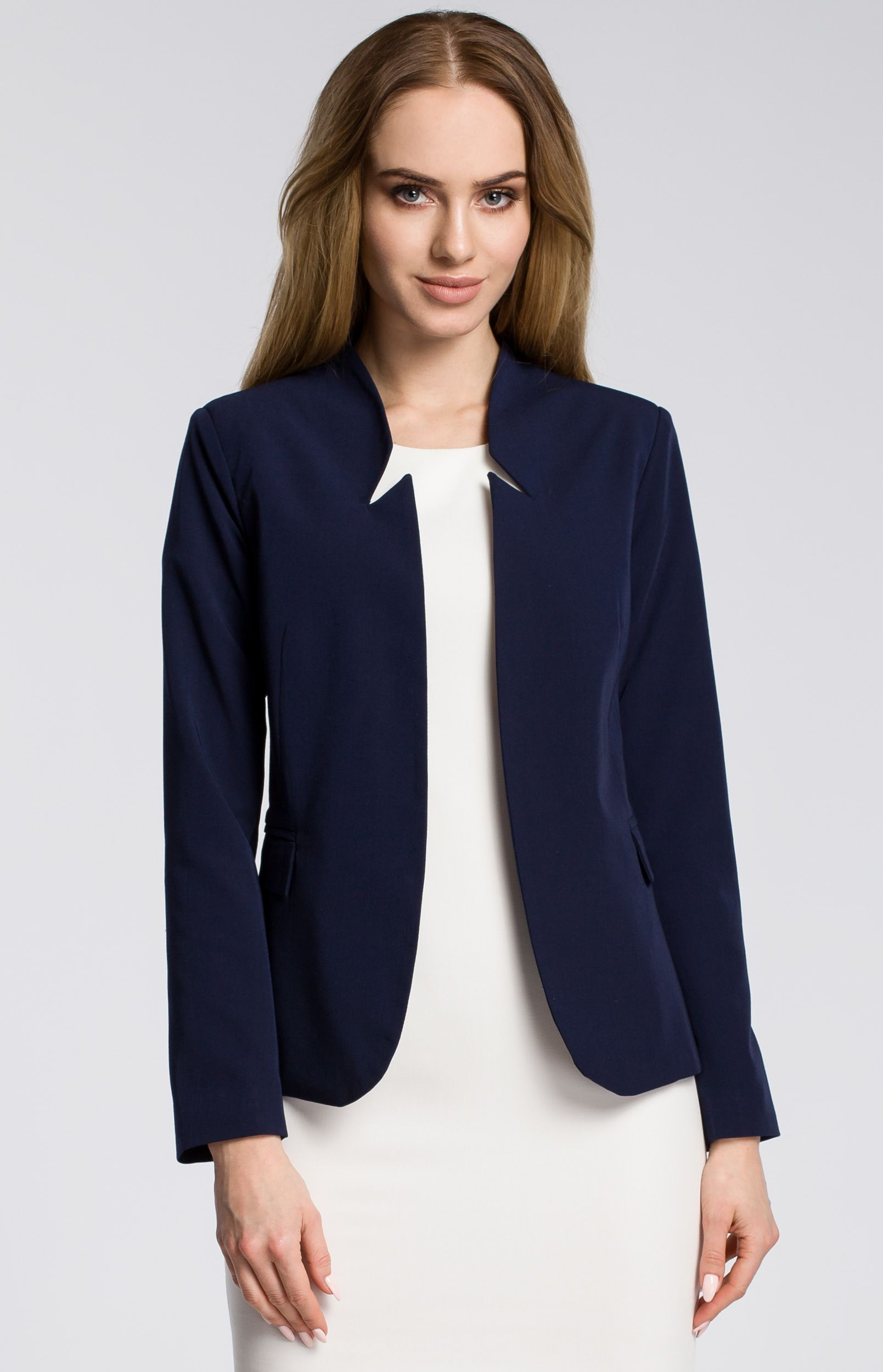 Veste femme blazer bleu marine