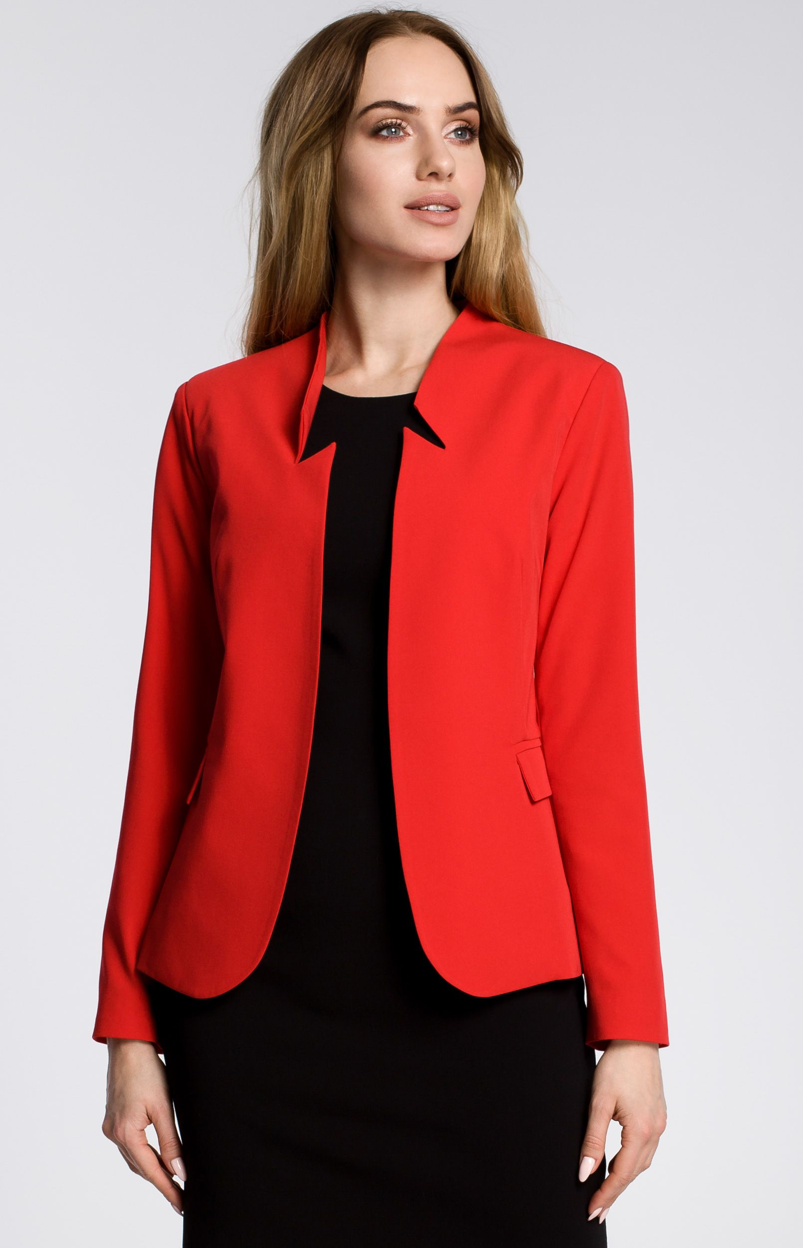 veste femme blazer rouge moe me358r idresstocode boutique de d shabill s et nuisettes robes. Black Bedroom Furniture Sets. Home Design Ideas