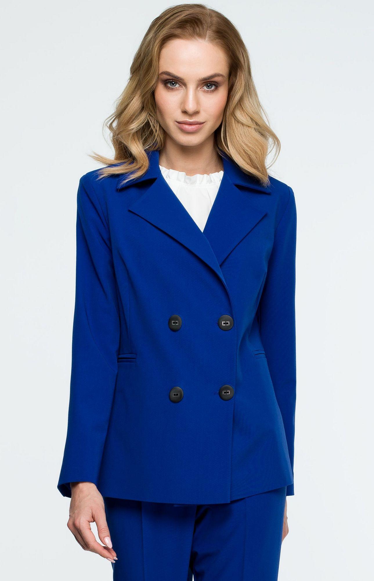 Veste bleue femme